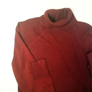 Tribal red turtleneck sweater